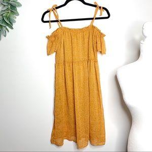 Xhilaration Tie Sleeve Off the Shoulder Dress